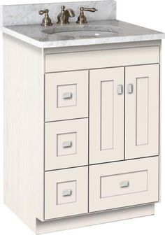 "Strasser Woodenworks Montlake 24"" Vanity with Left Hand Drawers and Shaker Doors"