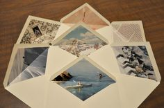 Darkroom and Dearly: {diy: homemade envelope liners} april 2011