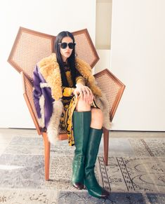 Over-the-top outerwear, for one. http://www.thecoveteur.com/gilda-ambrosio/
