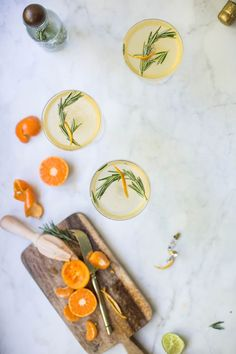 Rosemary Clementine Prosecco Cocktails | Beth Kirby via West Elm