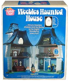 """The Weebles Haunted House. """"Where Weebles wobble."""" A most unexpected and harrowing twist on the classic Weeble. Vintage Games, Vintage Toys, Childhood Toys, Childhood Memories, Romper Room, Monster Toys, Monster Mash, Old School Toys, Retro Toys"""