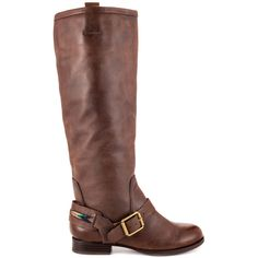 This style isn't a maybe, it's a sure fire must have for the season.  The Lucky Brand May brings you a delicate brown leather upper with decorative buckle at the vamp and 1 inch heel.  A 15 3/4 inch shaft and unique threaded heel strap creates this casual boot.