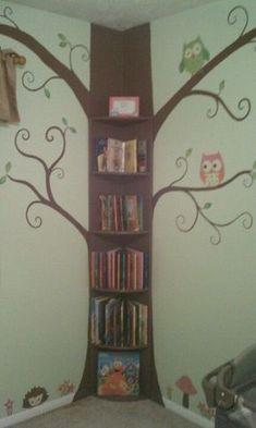 Tree bookshelf I made for my grandchildren room.