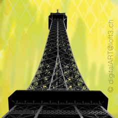 Eiffelturm, Paris | Foto und Photocomposing: Heidi Weder. #eiffeltower #paris #digitalart #loft3