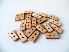 Wood Buttons  20 Handmade Wood Buttons  Olive by forestinspiration