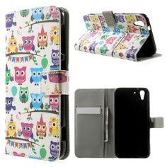 Mesh - HTC Desire Eye Hoesje - Wallet Case Uilen   Shop4Hoesjes
