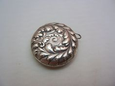 Antique Sterling Silver Repousse Flower Sewing Tape Measure