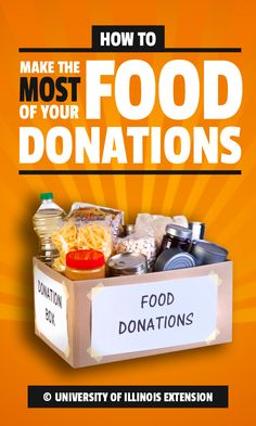 Make the most of your food donations by ensuring healthy meals for those in need!