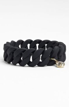 Marc Jacobs rubber turnlock stretch bracelet