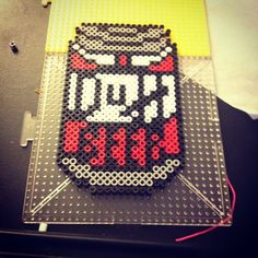 Duff Bear - The Simpsons perler beads by crzymothatruka