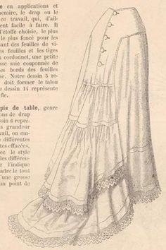 Nainsook petticoat with mousseline volants from Revue de la Mode 1877