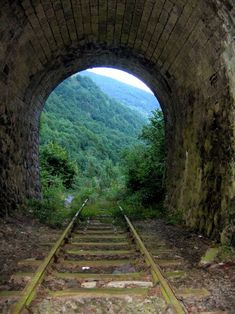May be abandoned, but there's still light at the end of this tunnel...along with a beautiful view.