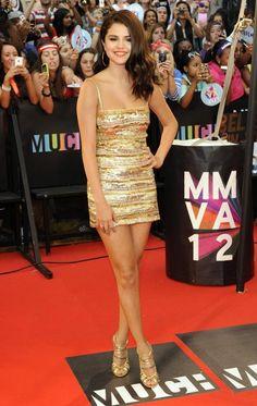 Gold dress!