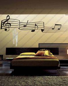decoração papel de parede notas musicais - Pesquisa Google