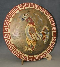 ancient greece | Ancient Greek Shields were made out of either willow or limewood and ...