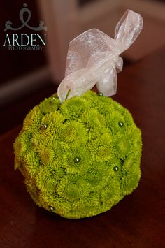 Green button Pomander Ball.