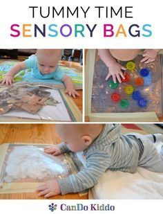 Baby sensory play and baby learning play to make Tummy Time fun! Learn to make s… Baby sensory play and baby learning play to make Tummy Time fun! Learn to make simple sensory bags for babies to do more Tummy Time. Infant Activities, Activities For Kids, 4 Month Old Baby Activities, Baby Learning Ideas, Baby Messy Play Ideas, Infant Games, Baby Sensory Ideas 3 Months, Activities For Babies Under One, Health Activities