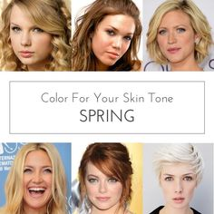 spring color analysis. Skin tone.  You have a clear, warm and golden undertone to your overall coloring. If your skin appears pink, it's more likely a peachy warm pink.