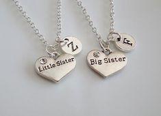 Big Sister Little Sister necklaces set of 2 by MemorablesCharms