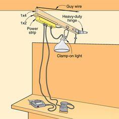 Power cord boom