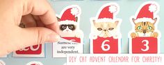 Printable DIY Christmas Advent Calendar for Charity