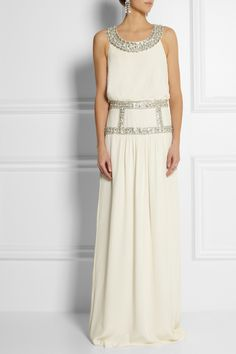 Temperley London | Emmeline embellished silk-crepe gown | NET-A-PORTER.COM