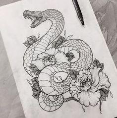 Tattoo Art Schlange Blumen Zeichnung omg tho # Schlange Blumen - Your dream wedding and venue organization, Your dream wedding and venue organization Serpent Tattoo, Tattoo Snake, Arm Tattoo, Sleeve Tattoos, Tattoo Art, Cobra Tattoo, Realism Tattoo, Tattoo Fonts, Tattoo Sketches