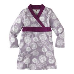 Tea Collection Girls 2-6X Winter Wildflower Wrap Dress (bestseller)