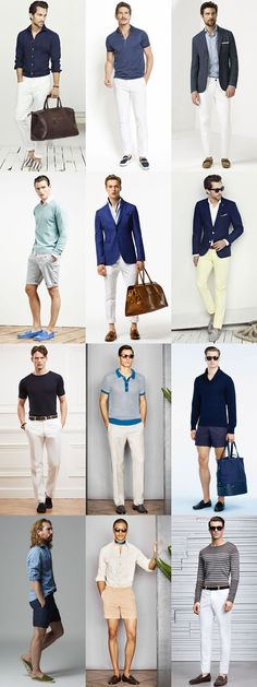 Men's Riviera Style Outfit Inspiration Lookbook - Espadrilles, Loafers and Drivers Footwear