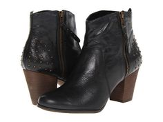 Bella-Vita Kinsey Black Burnish Leather - 6pm.com