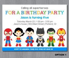 Superhero Birthday Invitation Superhero Birhday by KidzParty