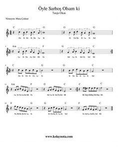 Tanju Okan - Öyle Sarhoş Olsam ki Kolay Notası #Nota #Keman #Flüt #score Guitar Notes, Shawn Mendes, Clarinet, Flute, Violin, Piano, Sheet Music, Kissing, Videos