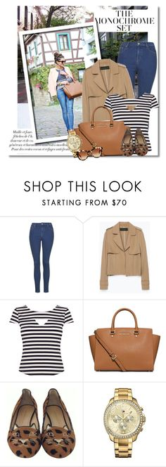 street style by vkmd on Polyvore featuring Karen Millen, Zara, Topshop, Charlotte Olympia, MICHAEL Michael Kors, Tommy Hilfiger and Fendi