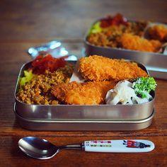 冷めても美味しいお弁当キーマカレーの作り方。 Japanese Lunch, Japanese Food, Cute Bento, Asian Recipes, Ethnic Recipes, Bento Box Lunch, Aesthetic Food, Korean Food, Food Design