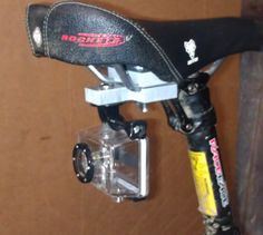 GoPro camera bicycle under-seat mount