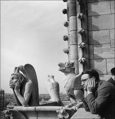 Magazine editor Frank Zachary at the Cathedral of Notre Dame, Paris, circa 1955, a long way from his birthplace in the burgh. Son of a Croatian steel worker, Frank would become the creative genius behind Holiday and Town and Country Magazines.