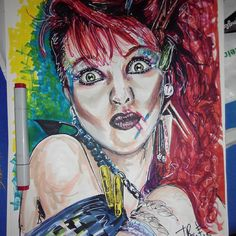 #2dart #markers #rotuladores #ilustracion #illustration #drawing #cindylauper #80s #heARTeam #art #artwork #dibujo #heARTeam