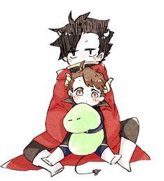 Image via We Heart It #anime #kawaii #manga #haikyuu #kurootetsurou #oikuro #oikawatooru