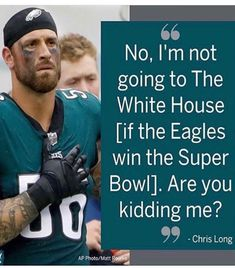 "You'd be surprised how many ""True Americans"" Hate what trump & his Hate Driven Supporters Have Done to Our Nation. Bravo to The Eagles who don't give a Damn about visiting the White House or seeing the Republicans FAKE PRESIDENT!! CONGRATULATIONS PHILADELPHIA EAGLES!!! SUPER BOWL CHAMPS!! (not Brady & the Pats!)"