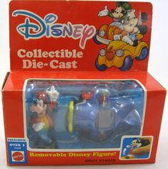 PVC Disney Goofy with Die-Cast Airplane Mattel Mint In Box Figure Toy Set Lot
