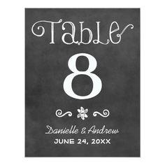 Charme noir de tableau du numéro | de Tableau de Carton D'invitation 10,79 Cm X 13,97 Cm