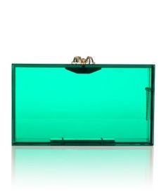 this lucite Charlotte Olympia clutch