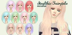 Stealthic Fairytale Hair Recolor at JSBoutique via Sims 4 Updates