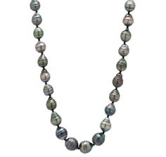 14K Yellow Gold Baroque Tahitian South Sea Pearl Necklace