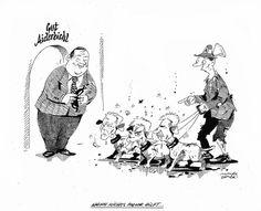 """OÖN-Karikatur vom 13. Dezember 2014: """"Wenn nichts mehr hilft ..."""" (Bild: Mayerhofer)"""