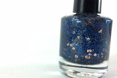 One In A Million  - Handmade Glitter Polish - Nail Lacquer - Blue and Copper  - Glitter Nail Polish. $7.00, via Etsy.