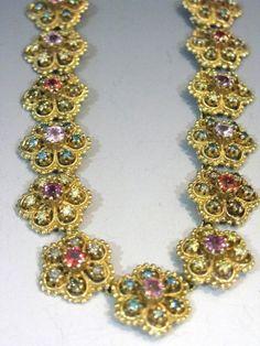 14K GOLD DIAMOND & SAPPHIRE NECKLACE 13.91 CARATS : Lot 25