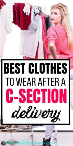 Postpartum clothes that actually work for your body! Looking for the best clothes to wear after a c-section delivery? Here are 8 clothing pieces that will help you feel comfortable and look great! #postpartum #csection #postpartumclothes Breastfeeding After C Section, Breastfeeding Tips, C Section Recovery Timeline, C Section Workout, Postpartum Clothes, C Section Scars, Hospital Bag Checklist, Baby On A Budget, Postpartum Recovery