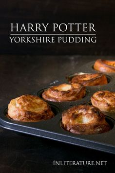 Yorkshire pudding is usually eaten with a Sunday roast in Harry s case at Hogwarts but you can whip up these easy little puffs just because Fish And Chips, Harry Potter Treats, Harry Potter Food, Harry Potter Desserts, Drink Recipe Book, Sunday Roast, Nutrition Education, Yorkshire, Food Porn