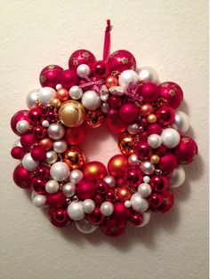 Christmas ball wreath, Kugel Kranz Made by me, Patrizia Monitillo !